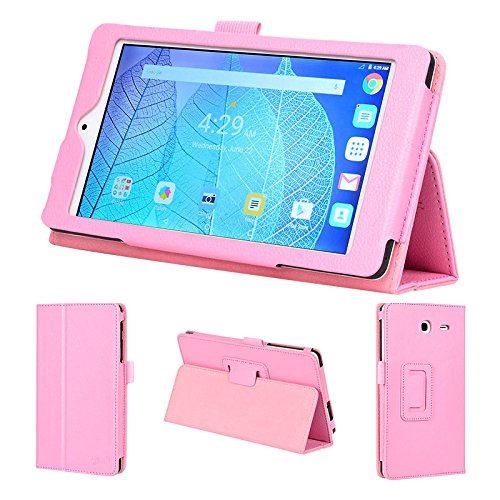 wisers 2016 ALCATEL ONETOUCH POP 7 LTE 7-inch tablet case / cover, light pink