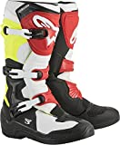 Alpinestars Tech 3 Motocross Off-Road Boots 2018 Version Men's Black/White/Yellow Size 9