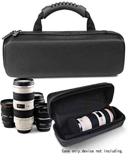 Protective Case for Canon Portrait & Travel 2 Lens kit, and for other Camera Lenses (Canon, Nikon, Sony, Pentax, Olympus, Panasonic,etc), smart dividers, for up to three lenses, inner padding Cover