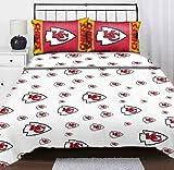 Northwest NOR-1NFL820001007WMT Kansas City Chiefs NFL Twin Sheet Set