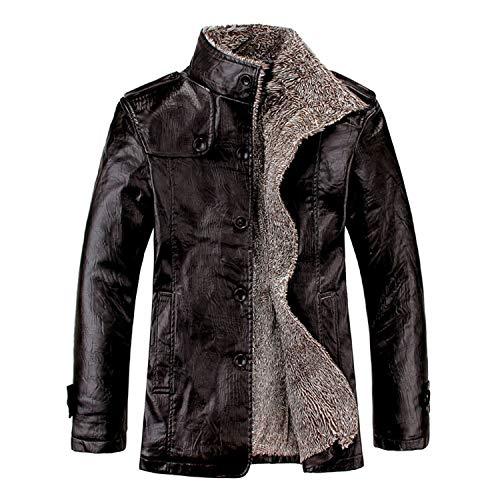 Soluo Men's Cotton Bomber Jacket Casual Stand Collar Lightweight Windbreaker Zipper Coat Outerwear