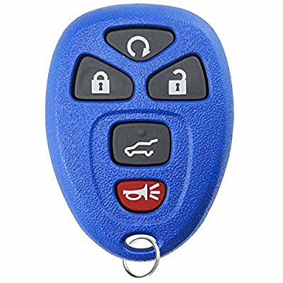 KeylessOption Keyless Entry Remote Control Car Key Fob Replacement for 15913415 -Blue: Automotive