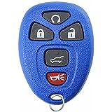 KeylessOption Keyless Entry Remote Control Car Key Fob Replacement for 15913415 -Blue