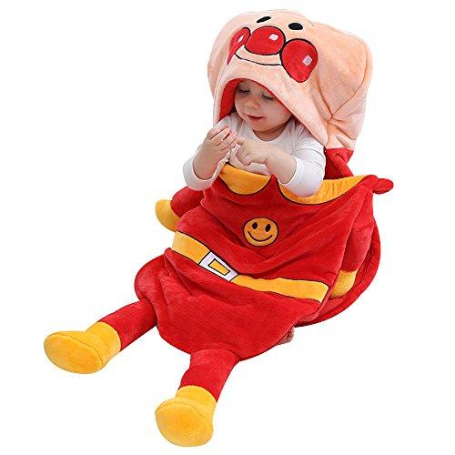 Anpanman Halloween Costume (King's Baby Fleece Blanket Toddler Sleeping Bag Flannel Hooded Quilt Cover Snowsuit Kid's Sleep Sack Totoro)