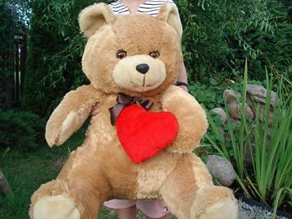 Big marrón gigante teedy oso de peluche 90 – 100 cm Ideal para regalo para niños