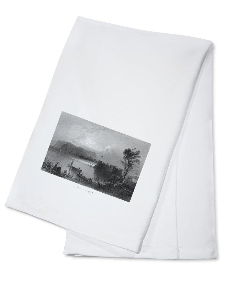 ケベック、カナダ – のビューFort Chambly and the Richelieu川 Cotton Towel LANT-26374-TL B0184BB2IU  Cotton Towel