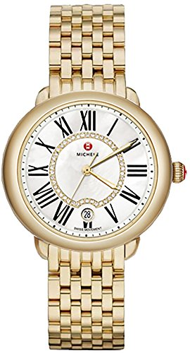 Michele Serein Mother of Pearl Dial Gold-tone Stainless Steel MWW21B000017 by MICHELE