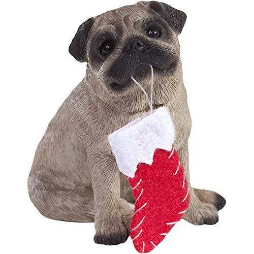 Thе Sandicast Christmas Decorations Fawn Pug