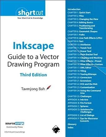Inkscape Guide To A Vector Drawing Program Digital Short Cut Ebook Tavmjong Bah