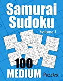 Samurai Sudoku Medium Puzzles - Volume 1: 100 Medium Samurai Sudoku Puzzles for the Casual Solver (Number Puzzle Fun)