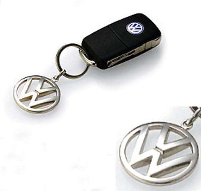 Volkswagen Metal Key Chain Keyring Fob Silver 200025L00002
