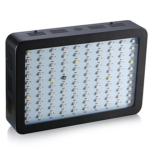 BOSSLED 300W LED Grow Light Powerful Full Specturm with IR&UV for Indoor Plant Growing and Flower(3W Led)