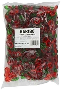 Haribo Gummi Candy, Twin Cherries, 5- Pound Bag