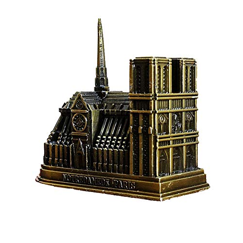 SYS-KCD Our Paris Women, Zinc Alloy Craft Model French Church Decoration Cathedral Notre Dame Church Model Metal Craft Tourist Monument Decoration 2 Pack ()