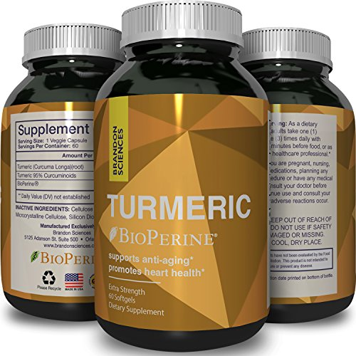 Turmeric Curcumin Pills for Women & Men – Natural Antioxidant Capsules – Joint Health Supplement + Immune System Support – Pure Curcumins With BioPerine Black Pepper Extract – By Brandon Sciences (Mediterranean Red Pepper Paste)