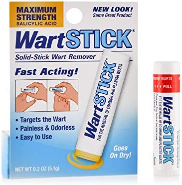 WartStick Maximum Strength Salicylic Acid Solid-Stick Common and Plantar Wart Remover 0.2 Oz