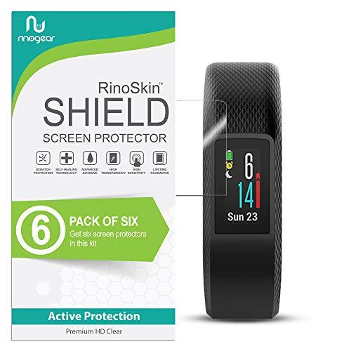 RinoGear for Garmin Vivosport Screen Protector [6-Pack] Case Friendly Screen Protector for Garmin Vivosport Accessory Full Coverage Clear Film