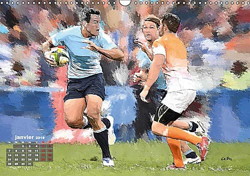 Actions de rugby 2019: Serie de 12 creations originales montrant les gestes et actions du rugby actuel. (Calvendo Sportif) (French Edition) by Calvendo Verlag GmbH