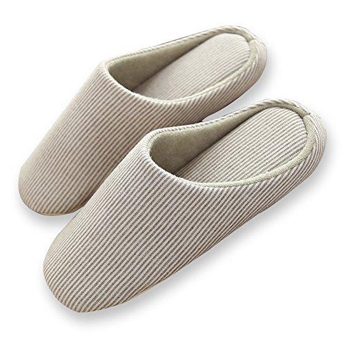 Halova Maison Pantoufles, Fermé Toe Intérieur Maison Chambre Chaussures Chaussures Avec Semelle Antidérapante Pour Hommes Garçons Marron