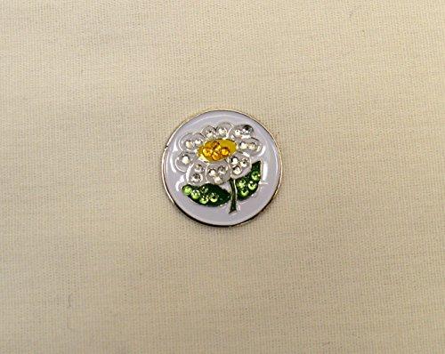 - Evergolf Crystal White Daisy Golf Ball Marker - 13754