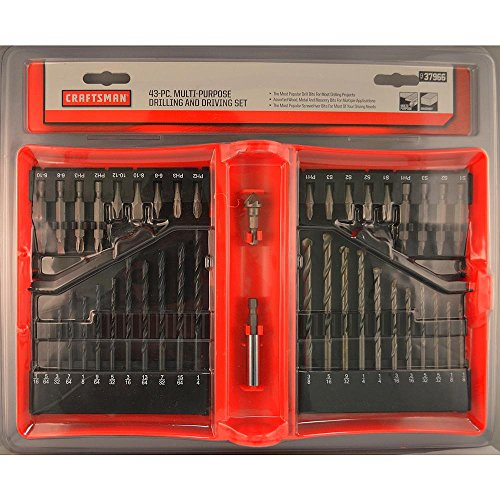 Craftsman 9-37966 Black Oxide Masonry Drill Bit Set, 43 Piec
