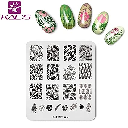 KADS 1pcs Double-sided Flower Pattern Nail Stamping Image Plate Holder Plate Stand Tray for Stamping Template Printing Plate for Nail Stencil KADS Co. Ltd