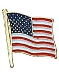 US Flag Store USA Flag Lapel Pin Standard Flag Series 3 with ...