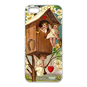 SYSD Diy Case for iPhone 5,5S ,Customized Hard Plastic case Cupid Cherub KJ780625