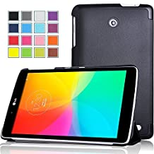 LG G Pad II 8.0 LTE case, KuGi High quality ultra-thin Smart Cover Case for AT&T version LG G Pad II 8.0 LTE Tablet. (Black)