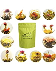 LWXLJMJZC-Blooming Tea,Jasmine Flowering Tea, Green Tea with Natural Flowers 12pcs Individually Wrapped