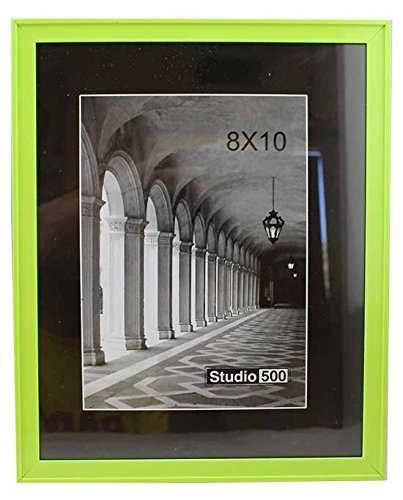 Amazon.com - party plus 4 less Plastic Picture Frame Lime Green 8\