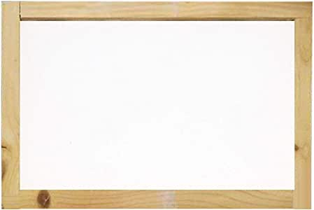 SM SunniMix Wood Paper Making Papermaking Screen Printing Frame Wooden Rectangular Mold for Paper Recycling DIY 4 Sizes 25x34cm