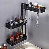 MiniInTheBox Spice Rack Organizer 3-Tier Wall Mounted Stainless Steel Kitchen Organizer Bathroom Storage Organizer Spice Jars Bottle Shelf Holder Rack