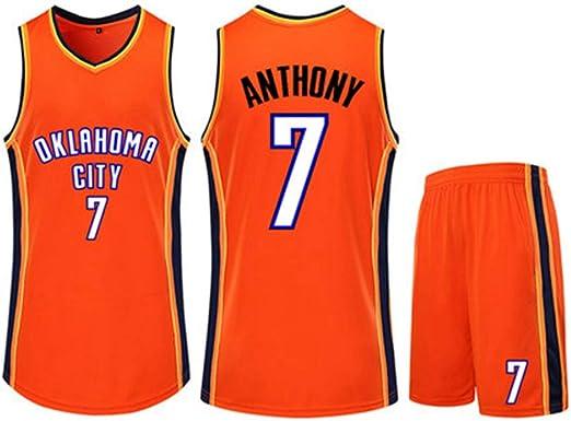 7 # Conjunto De Camiseta De Baloncesto De La NBA Carmelo Anthony ...