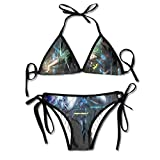 OYOOKO Unique Break Dance Hip-Hop Young Padded Top Bottom Bikini Swiming Suit Two Piece Suits