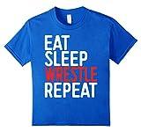 Eat Sleep Wrestle Repeat T-Shirt Funny Wrestling Gift Shirt