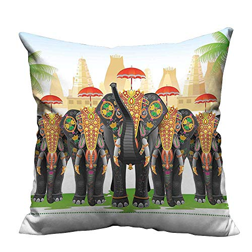 YouXianHome Sofa Waist Cushion Cover Traditi al Costum Umbrellas Cerem y Graphic Multicolor Decorative for Kids Adults(Double-Sided Printing) 17.5x17.5 inch