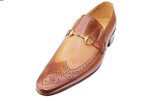 Wear & Walk UK - Mocasines de Piel para Hombre Mus Brown