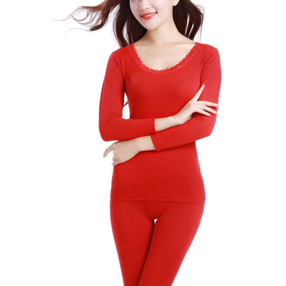 Yalatan Women Winter Thermal Underwear Set Thermal Top + Leggings Pant Sets Clothes