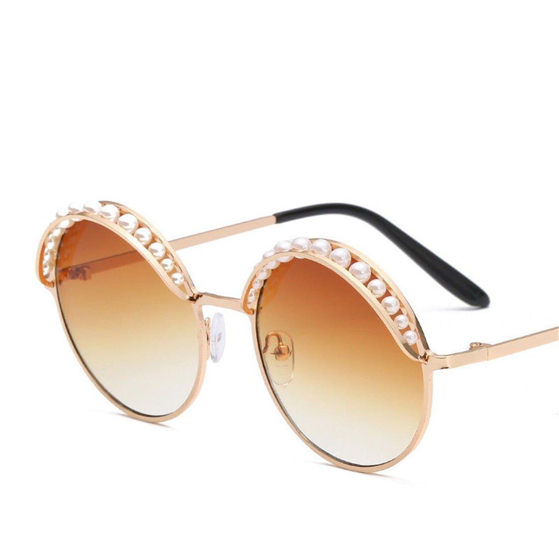 GCC Die Sonnenbrille Perle Header Runde Sonnenbrille Mode Persönlichkeit. G Persönlichkeit. GCC Sun Mirror