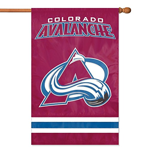 - NHL 2-Sided Appliqué Banner Flag, Colorado Avalanche