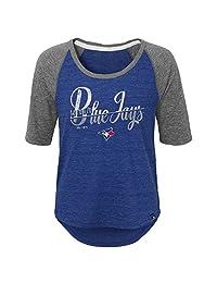 Toronto Blue Jays Youth Girls Vintage Girl Raglan T-Shirt
