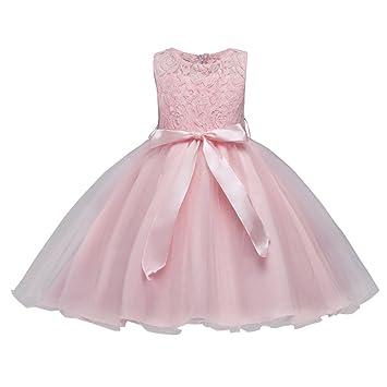 204e70c614554 キッズドレス 女の子 Yochyan 子供 ベビー服 可愛い キュート 子供服 ドレス ノースリーブ 柔らかい フォーマルドレス レース