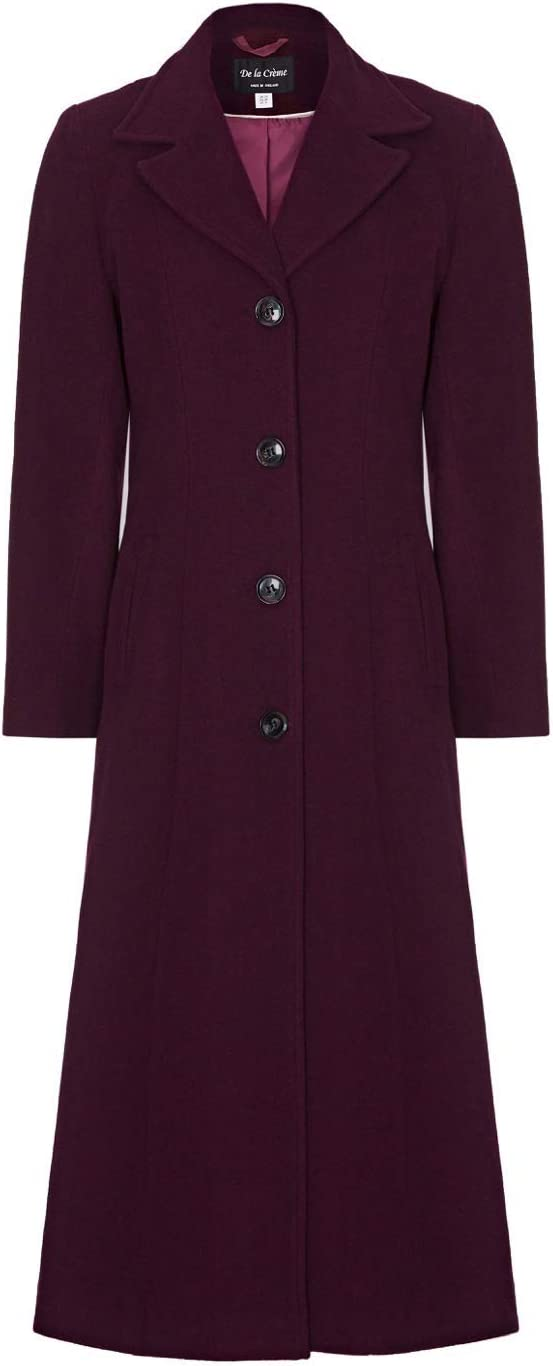 1940s Style Coats and Jackets for Sale De La Creme Womens Wool Cashmere Long Winter Coat $169.99 AT vintagedancer.com