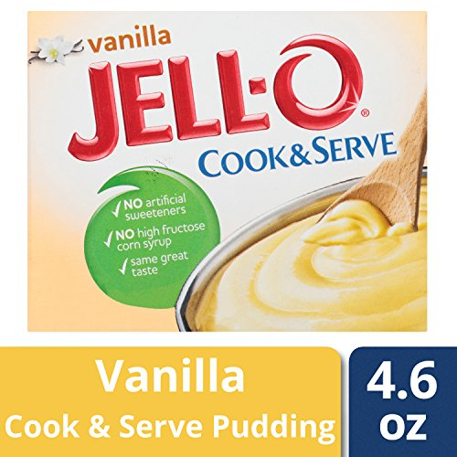 Jell-O Cook & Serve Pudding & Pie Filling, Vanilla, 4.6 oz (Vanilla Pie)