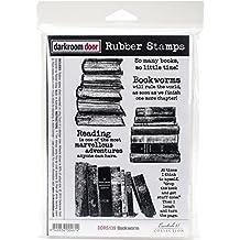 """Darkroom Door Cling Stamps 7""""X5""""-Bookworm"""