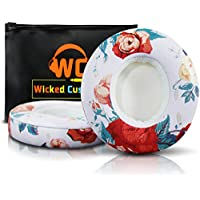 Wicked Cushions Beats Solo 2 Ear Pad Replacement - Compatible With Solo 2 & 3 WIRELESS On Ear Headphones | (Floral White)