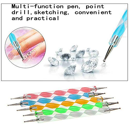 /set Supplies Double Nail Point Drill Pen of Spiral Rod Point Painting Pen ()