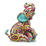 Paisley Elephant Figurine with Glitter and Faux Gem Eyes by The Hamilton Collection