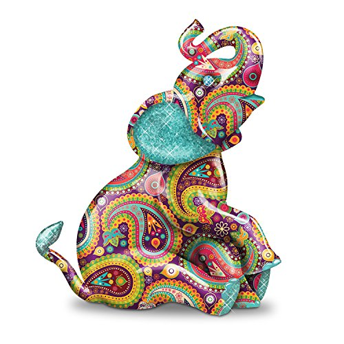 - Paisley Elephant Figurine with Glitter and Faux Gem Eyes by The Hamilton Collection